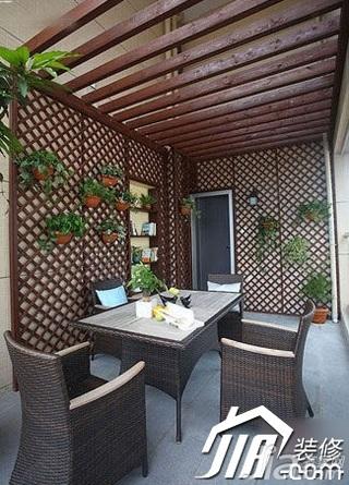 简约风格三居室10-15万130平米露台装修效果图