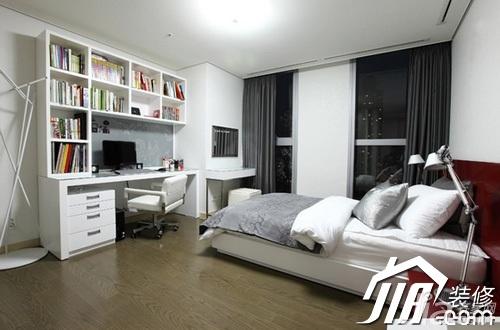 简约风格公寓富裕型100平米卧室书架效果图