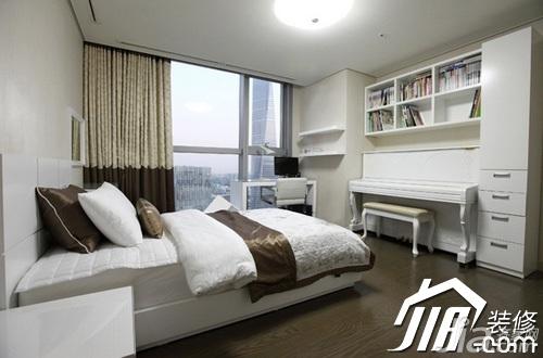 简约风格公寓富裕型100平米卧室窗帘效果图