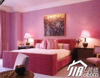 简约风格公寓温馨粉色豪华型120平米卧室床效果图