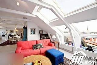 混搭风格公寓简洁富裕型100平米客厅沙发图片