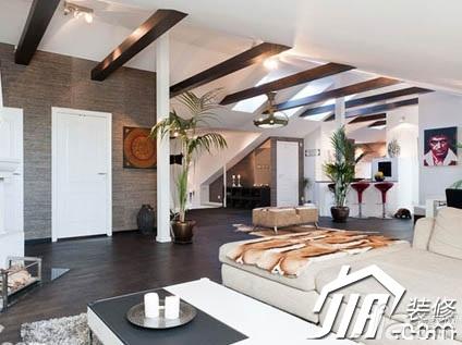 简约风格别墅豪华型客厅吊顶沙发效果图