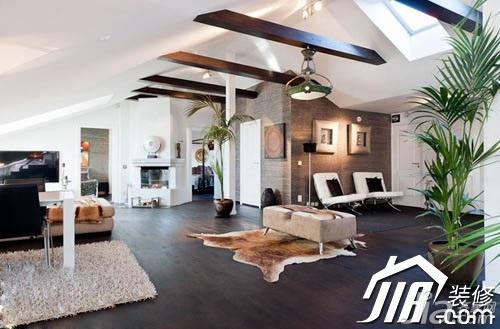 简约风格别墅豪华型客厅吊顶沙发图片