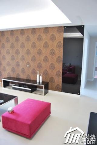 简约风格二居室3万-5万90平米客厅电视背景墙电视柜效果图