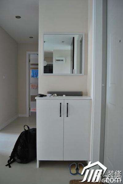 简约风格二居室3万-5万90平米玄关鞋柜图片
