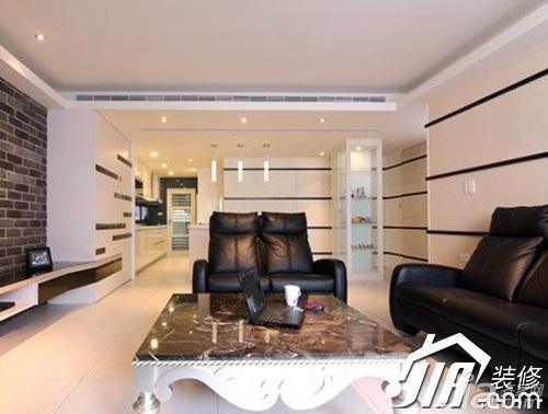 简约风格三居室简洁5-10万90平米客厅沙发二手房家装图