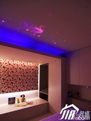 简约风格三居室温馨5-10万90平米卧室灯具二手房家装图