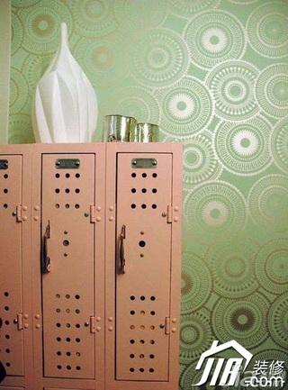 简约风格小户型绿色3万-5万40平米壁纸图片