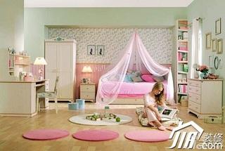 混搭风格粉色富裕型卧室儿童床图片