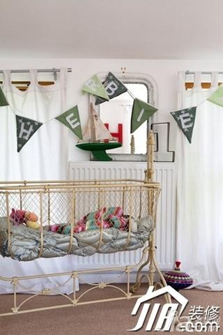 混搭风格公寓富裕型100平米婴儿房效果图