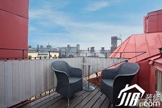 北欧风格小户型富裕型露台装潢