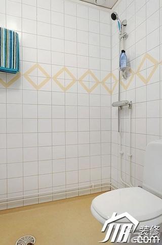 简约风格复式富裕型淋浴房安装图