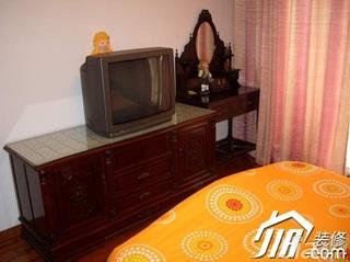 简约风格三居室5-10万90平米卧室电视柜效果图
