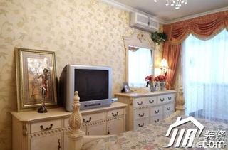 简约风格公寓5-10万120平米卧室窗帘效果图