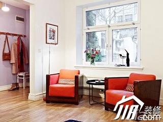 宜家风格复式60平米单人沙发图片