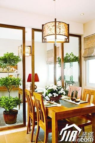 中式风格富裕型餐厅灯具效果图