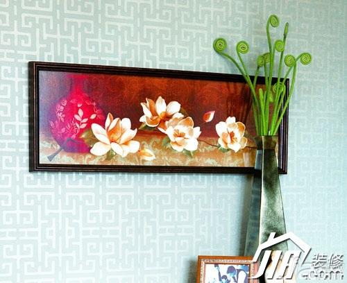 中式风格富裕型壁纸效果图