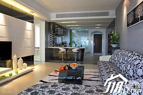 大气5-10万110平米客厅电视背景墙沙发图片