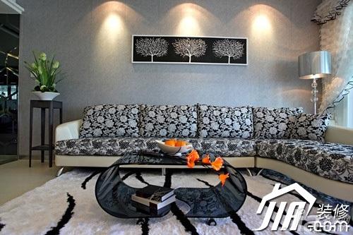 大气5-10万110平米客厅沙发背景墙沙发图片