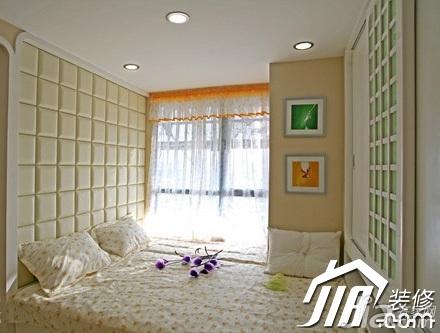 舒适5-10万110平米卧室卧室背景墙床效果图