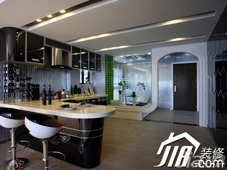 大气黑色5-10万110平米厨房橱柜设计图纸