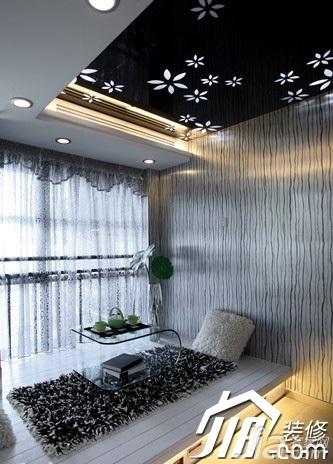 大气黑色5-10万110平米地台窗帘效果图