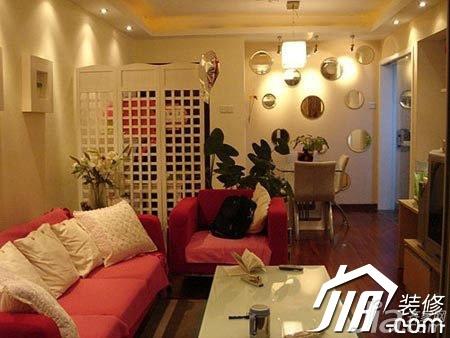 宜家风格公寓温馨经济型100平米客厅沙发效果图