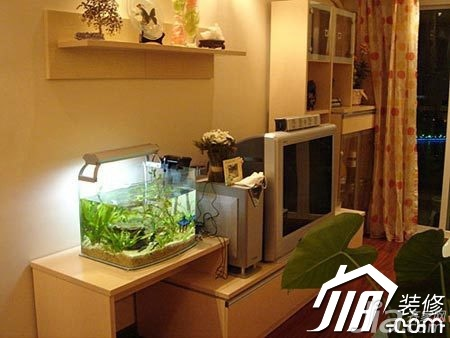 宜家风格公寓温馨经济型100平米客厅电视柜图片