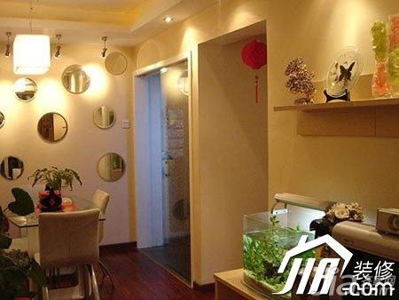 宜家风格公寓经济型100平米餐厅餐厅背景墙灯具图片