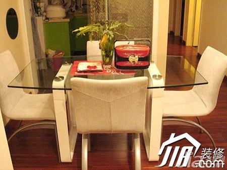 宜家风格公寓经济型100平米餐厅餐桌图片