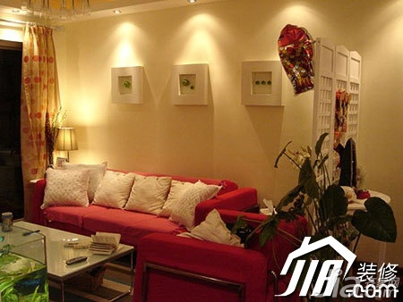 宜家风格公寓温馨经济型100平米客厅沙发背景墙沙发效果图