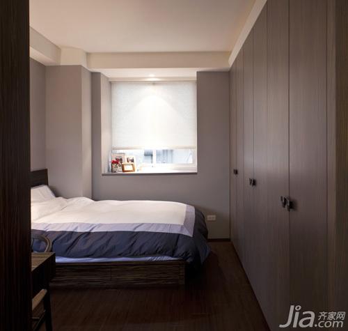 简约风格二居室80平米卧室飘窗衣柜设计