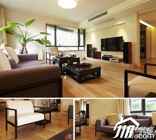 日式风格公寓富裕型100平米客厅茶几效果图