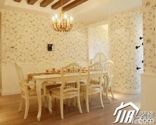 欧式风格公寓浪漫富裕型100平米餐厅餐厅背景墙灯具效果图