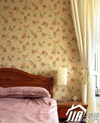 地中海风格公寓经济型120平米卧室壁纸图片