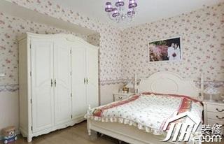 田园风格小户型温馨3万-5万40平米卧室壁纸效果图