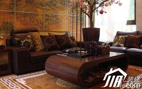 欧式风格公寓稳重豪华型客厅沙发背景墙沙发效果图