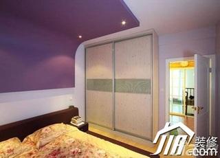 混搭风格一居室40平米卧室衣柜设计图