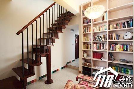 混搭风格一居室40平米楼梯书架效果图