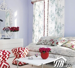 简约风格小户型小清新富裕型40平米客厅沙发效果图