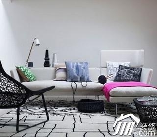 简约风格小户型简洁富裕型40平米客厅沙发效果图