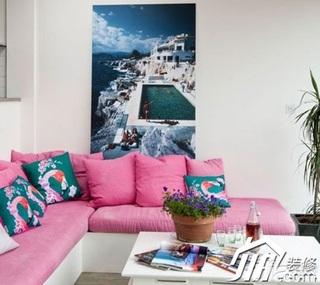 简约风格小户型舒适富裕型40平米客厅沙发效果图