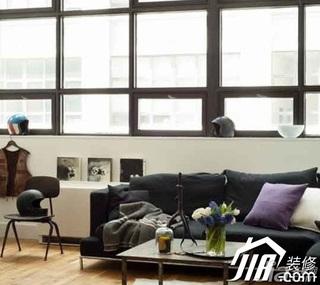 简约风格小户型简洁黑白富裕型40平米客厅沙发图片