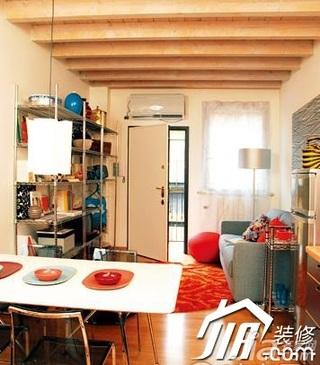 混搭风格40平米客厅灯具效果图