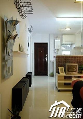 宜家风格小户型富裕型70平米客厅过道装修效果图