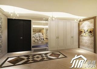欧式风格四房豪华型门厅玄关柜效果图