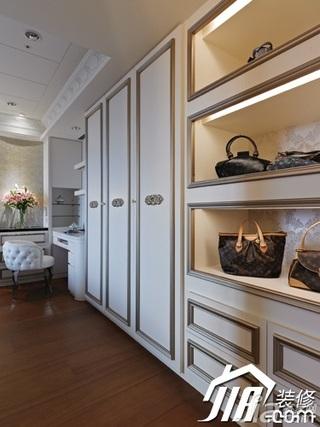 新古典风格公寓140平米以上衣帽间衣柜设计