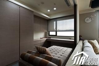 简约风格公寓富裕型100平米飘窗衣柜设计
