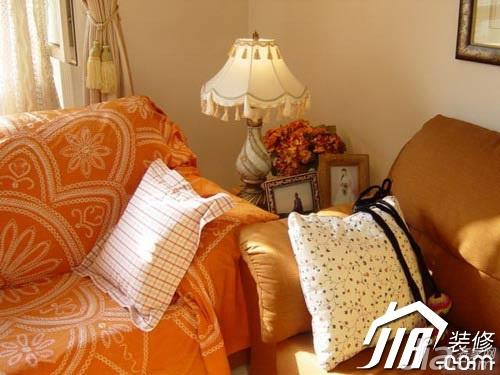 田园风格小户型舒适经济型50平米客厅灯具效果图