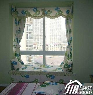 混搭风格小户型富裕型60平米卧室飘窗窗帘效果图